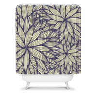 DENY Designs Home Accessories | Gabi Blue Dahlia Shower Curtain