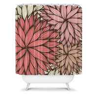 DENY Designs Home Accessories | Gabi Orange Dahlia Shower Curtain