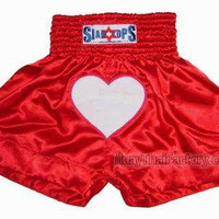 Siamtops Muay Thai Shorts - In love [ST-S-045-A] - Low prices on thai boxing Shorts