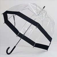 Clear Bubble Umbrellas Blk Trim