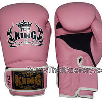 TOP KING Muay Thai Gloves - Super (AIR) - PINK [TKBGSA-PINK] - Low prices on thai boxing Gloves