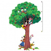 Room Mates Licensed Designs Mickey and Friends Peel and Stick Growth Chart - RMK1514SLM - All Wall Art - Wall Art &amp; Coverings - Decor
