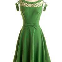 Bettie Page With Only a Wink Dress in Peridot | Mod Retro Vintage Dresses | ModCloth.com