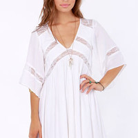 Ladakh Rain Dancer Ivory Lace Dress