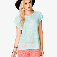 Tribal Pattern Sheer Tee | FOREVER 21 - 2037405903