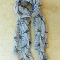 Galloping Giraffe Scarf in Gray [3640] - $16.00 : Vintage Inspired Clothing & Affordable Summer Frocks, deloom | Modern. Vintage. Crafted.
