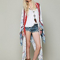 Free People  Printed Duster Scarf at Free People Clothing Boutique