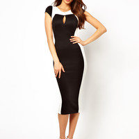 TFNC Pencil Dress With Contrast Panel