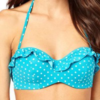 Panache D-G Cleo Betty Underwire Bandeau Bikini Top at asos.com