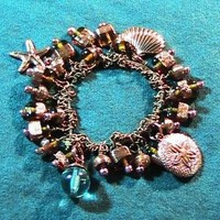 Beach in Copper Stretch Bracelet