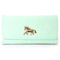 Critter-Sweet Mint Green Wallet