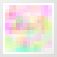 Re-Created Colored Squares No. 30 Art Print by Robert Lee