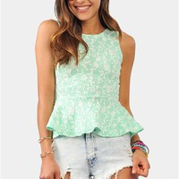 Up The Vine Top - Mint at Necessary Clothing