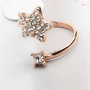 Star and Moon Rhinestone Statement Finger Cuff Ring | LilyFair Jewelry