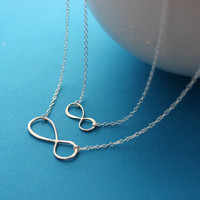 Mother daughter necklace . INFINITY Necklace . Infinity Love Between Mom and Daughter . Mothers day . Love friendship Necklace
