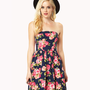 Rosebud Strapless Dress | FOREVER21 - 2037583567