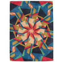 Blue + Pink Scope Rug - Rugs - Living