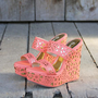 Traveling Sands Wedges in Peach, Sweet Rugged Boots