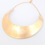 Metallic Wide Metal Necklace