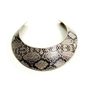 Snakeskin Leather Collar Necklace