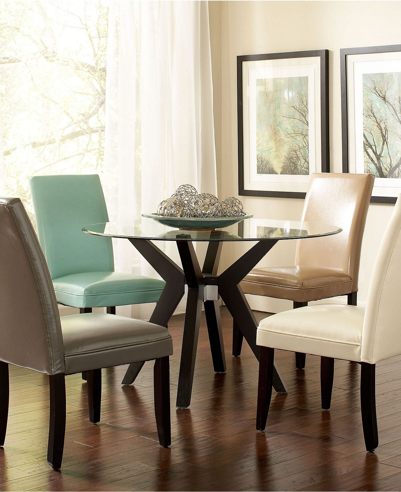 Celeste dining room furniture 5 piece from macys for Macys dining room chairs