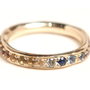 Eternity Rainbow Sapphire Organic Ring | Dream Collective Jewelry