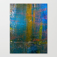 Blue declic 2 Stretched Canvas by Jean-Franois Dupuis