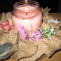 Rustic Burlap Candle Wreath