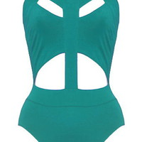 Sliced Supernova Swimsuit | Cutout One-Piece Swimsuits | RicketyRack.com
