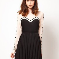 Stylestalker Cafe Flora Mesh &amp; Applique Dress at asos.com