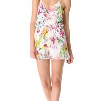 ADDISON Downey V Neck Romper | SHOPBOP