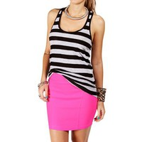 Black/Heather Gray Stripe Racerback Tank Top