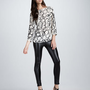 Kelly Wearstler Palermo Printed Top &amp; Skinny Faux-Leather Pants