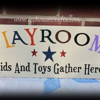 Playroom Wood Sign | icehousecrafts - Folk Art & Primitives on ArtFire