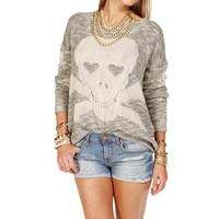 Mint/Ivory Skull Sweater