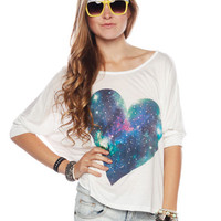 Papaya Clothing Online :: GALAXY HEART BEJEWELED GRAPHIC TOP