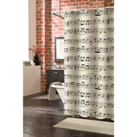 Musicology 72-Inch by 75-Inch Shower Curtain