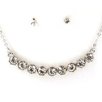 Amazon.com: Elegant &amp; Dainty Crystal/Rhinestone Necklace &amp; Earring Set by Jersey Bling: Jewelry
