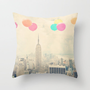 Balloons over the City Throw Pillow by Maybesparrowphotography