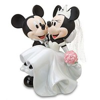 Wedding Minnie Mouse and Mickey Mouse Figurine | Disney Store