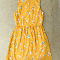 Blooming Canary Dress [3135] - $37.00 : Vintage Inspired Clothing & Affordable Summer Frocks, deloom | Modern. Vintage. Crafted.