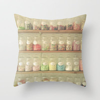 Sweet Shop Throw Pillow by Cassia Beck