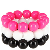 Payless, Women's (3 pk) Bobble Stretch Bracelet Set, Women's, Accessories, Jewelry, Bracelets