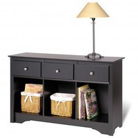 Prepac Black Sonoma Living Room Console Table - BLC-4830 - Accent Tables - Decor
