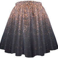 Stardust Galaxy Ombre Skirt  Long by Shadowplaynyc on Etsy