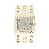 Pyramid Stud Cuff Watch: Charlotte Russe