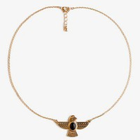 Hieroglyphic Bird Necklace