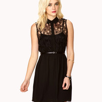Floral Lace Embroidered Dress | FOREVER21 - 2027704371