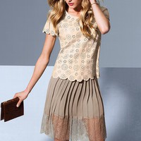 Lace-trim Skirt