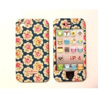 Amazon.com: Faceplate Blue Field Flowers Plastic Back Case Cover for iPhone 4 Front and Back Case Cover: Cell Phones & Accessories